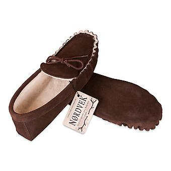 Nordvek Ladies Genuine Sheepskin Moccasin Slippers Soft Sole Womens 429-100