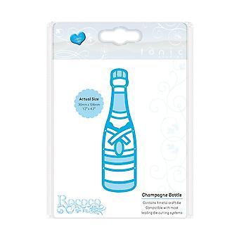 Estudios tónica rococó celebraciones botella de Champagne