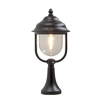 Konstsmide Parma Matt Black Gate Post Lantern