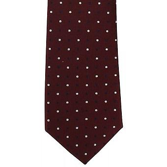 Michelsons London Multi spot Silk Tie - vinröd