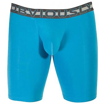 Obviously EveryMan AnatoMAX Boxer Brief 9inch Leg - Bondi Blue