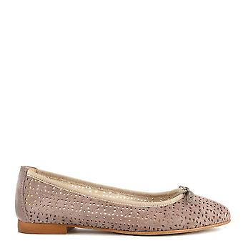 Elia B Shoes Nugget Taupe Cut Out Ballet Flat