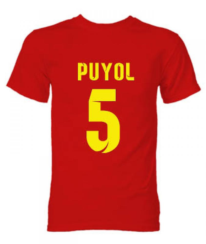 T-Shirt Eroe Barcellona Carlos Puyol (Red)
