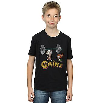 The Flintstones Boys Bam Bam Gains Distressed T-Shirt