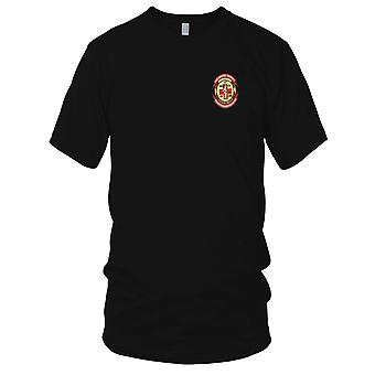 US Army - 57th Medical Company Charlie Team Air Ambulance Embroidered Patch - Mens T Shirt