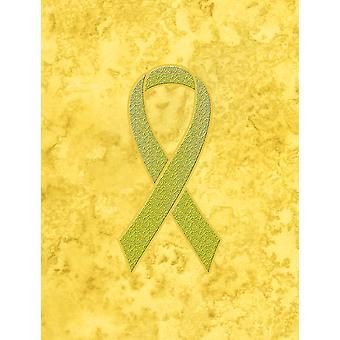 Nastro giallo per Sarcoma, osso o vescica cancro consapevolezza bandiera Canvas casa Si