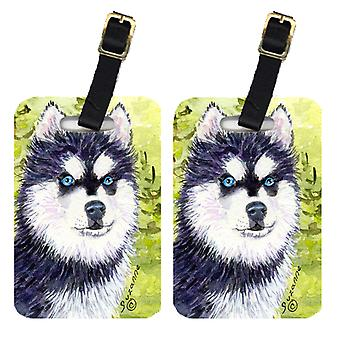 Carolines Treasures  SS8695BT Pair of 2 Klee Kai Luggage Tags