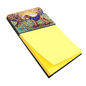 Carolines Treasures  7343SN Autumn Airedale Terrier Sticky Note Holder