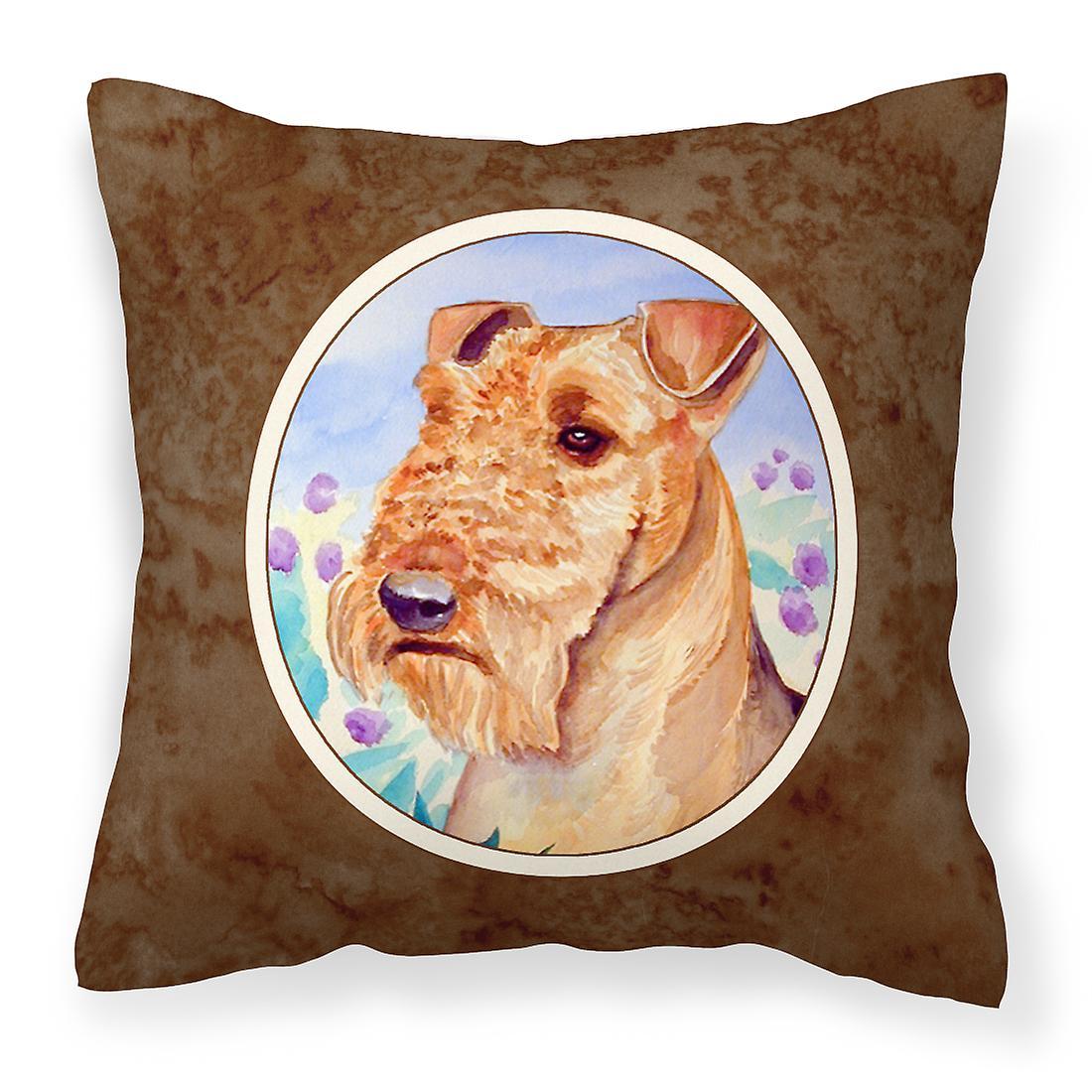 Oreiller Terrier Airedale En Tissu Fleurs Décoratif stQrChdx