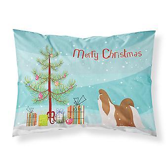 Shih Tzu Merry Christmas Tree Stoff Standard Kissenbezug