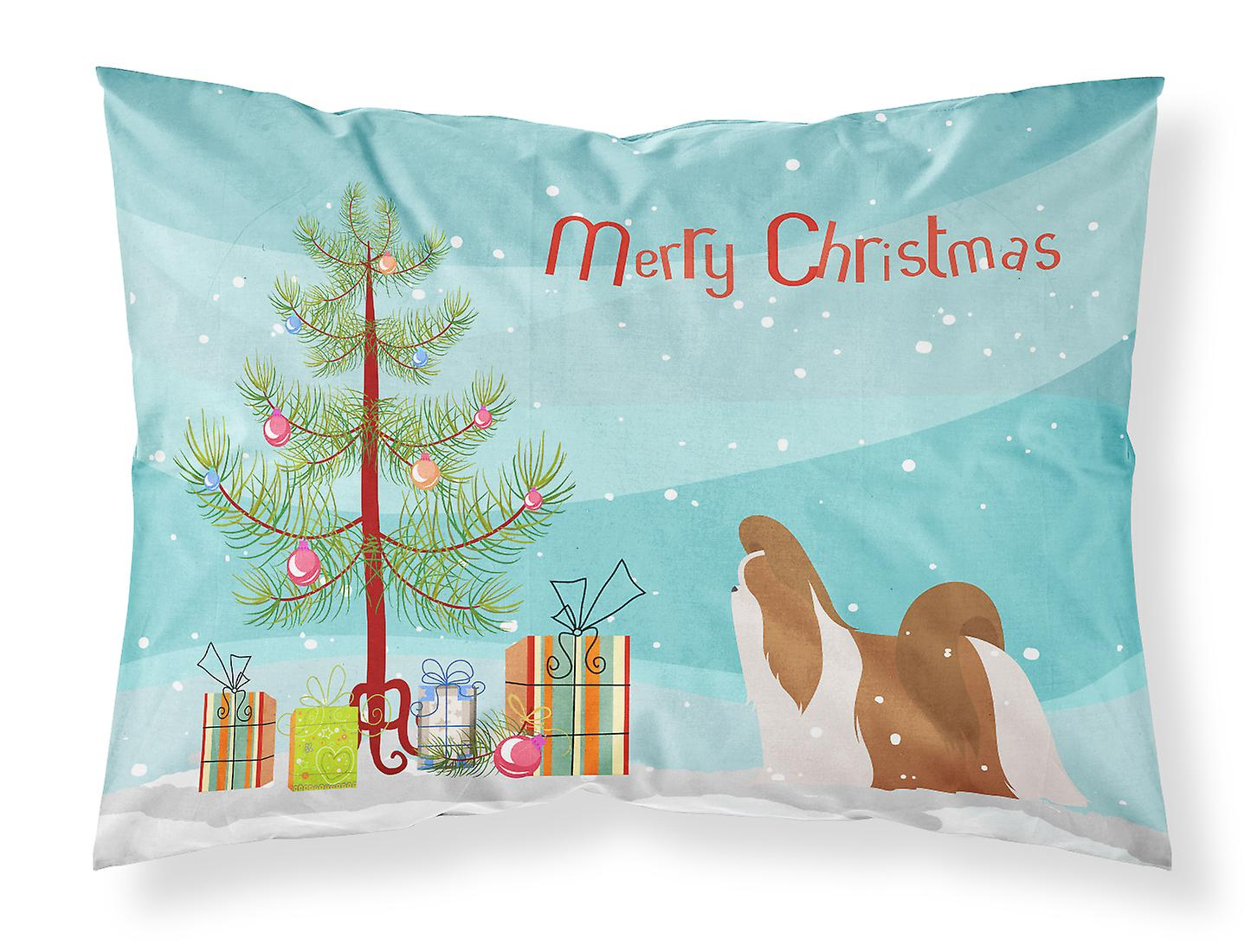 Tzu Merry Christmas Shih Tree Standard Tissu Taie D'oreiller De 45jc3qARL
