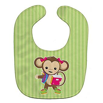 Carolines Treasures  BB7016BIB Monkey Going to School Baby Bib
