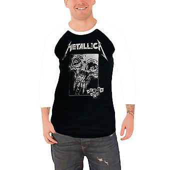 Metallica T shirt skader Inc nødlidende Band Logo officielle Herre Baseball Shirt