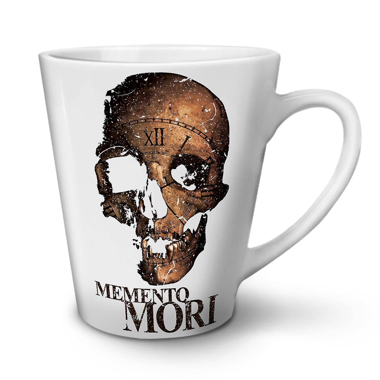 12 Tasse Latte En Mori Céramique OzWellcoda Memento Café Mort Nouvelle Blanche PiuOZkXT
