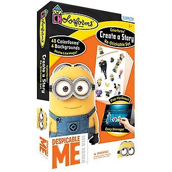 Colorforms(R) Create A Story Re-Stickable Sticker Set-Despicable Me COLORCAS-406