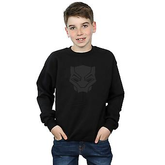 Marvel Boys Black Panther Black On Black Sweatshirt