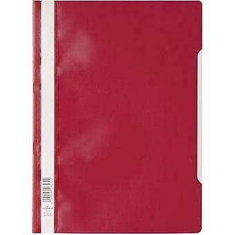 PLASTIC COVER DIN A4 MADE OF PP, RED