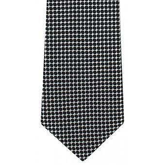 Michelsons of London Spot Grid Polyester Tie - Black