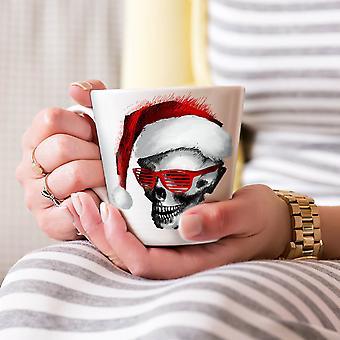 サンタ クロース ファッション新しいホワイト ティー コーヒー セラミック カフェラテ マグカップを盗品 17 oz |Wellcoda