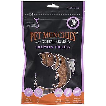 Haustier Munchies natürliche Hund behandelt Lachsfilets (8 x 90g Packung)