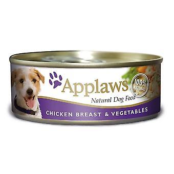 Applaws hund kan mad kylling & grøntsager 156g (pakke med 12)