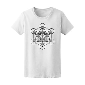 Metatron Cube. Geometric Art Tee Women's -Image by Shutterstock
