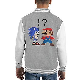 Sonic Hedgehog Vs Super Mario Kid uniwerek kurtka