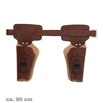 Двойной кобуры пистолет пояса 90 см ковбой Шериф дикого Запада аксессуар