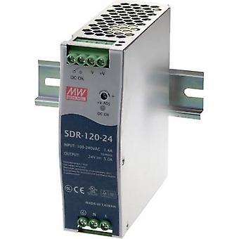 Mean Well SDR-120-12 Rail mounted PSU (DIN) 12 Vdc 10 A 120 W 1 x