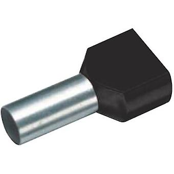 18 2450 Cimco Twin ferrule 2 x 6 mm² x 14 mm Partially insulated Black 100 pc(s)