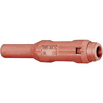 Stäubli SL205-BA Jack socket Socket, straight Pin diameter: 2 mm Red 1 pc(s)