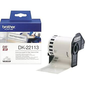 Brother DK-22113 Label roll 62 mm x 15.24 m Film Transparent 1 Rolls Permanent DK22113 All-purpose labels