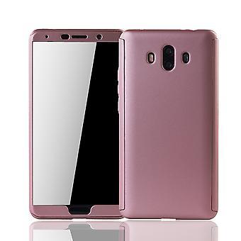 Huawei companheiro 10 móveis caso proteção caso completo capa tanque proteção vidro rosa