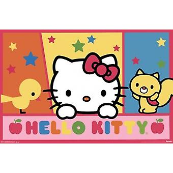 Hello Kitty - Peek Poster Print