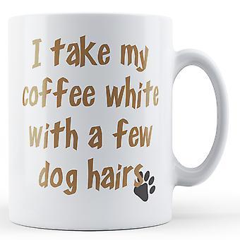 Kaffe hvid par hund hår - trykte krus