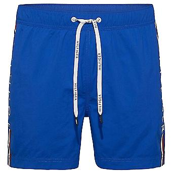 Tommy Hilfiger Logo Leg Swim Shorts, Lapis Blue, Small