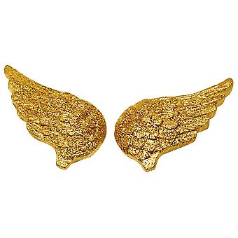 4 Resin Gold Glittered Christmas Angel Wings for Crafts | Peg Doll Crafts