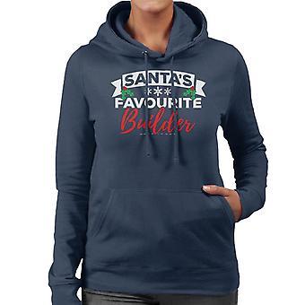 Santas favoriete Builder Christmas vrouwen Hooded Sweatshirt