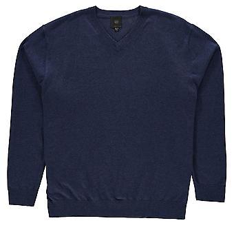 Fusion Mens V hals Sweatshirt Crew trui T Shirt Top trui Pullover lang