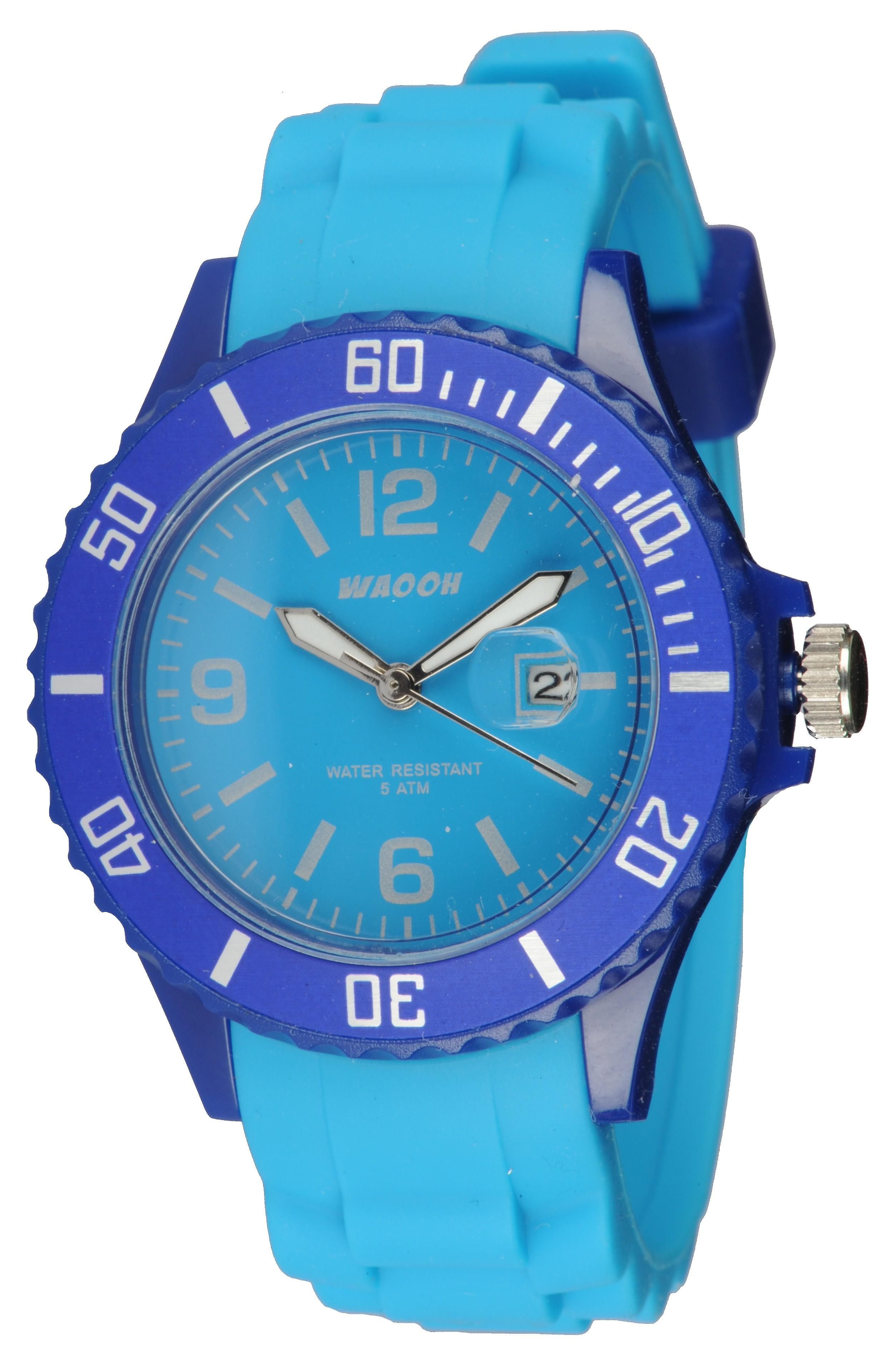 Waooh - Monaco38 Watch - Two Tone Blue &