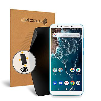 Celicious Privacy Plus 4-Way Anti-Spy Filter Screen Protector Film Compatible with Xiaomi Mi A2