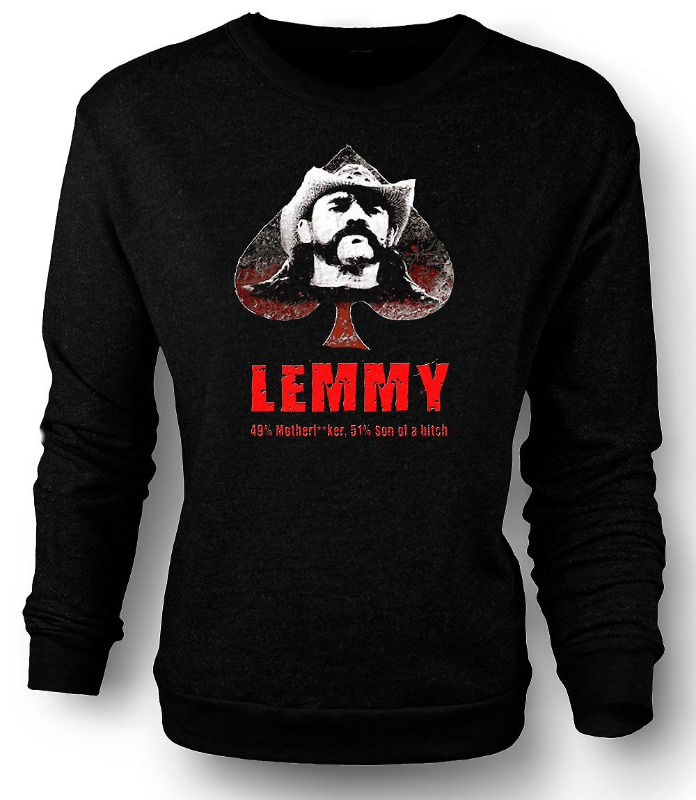 Mens Sweatshirt Lemmy - Motorhead - 49% Mother**