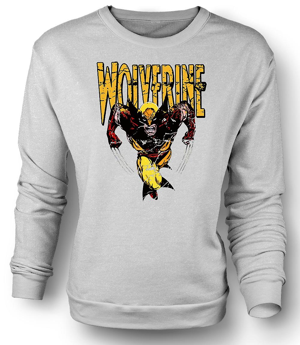 Mens Sweatshirt Wolverine - klassischer Comic-Held