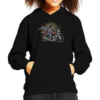 Bearded Biker Kid's Hooded Sweatshirt
