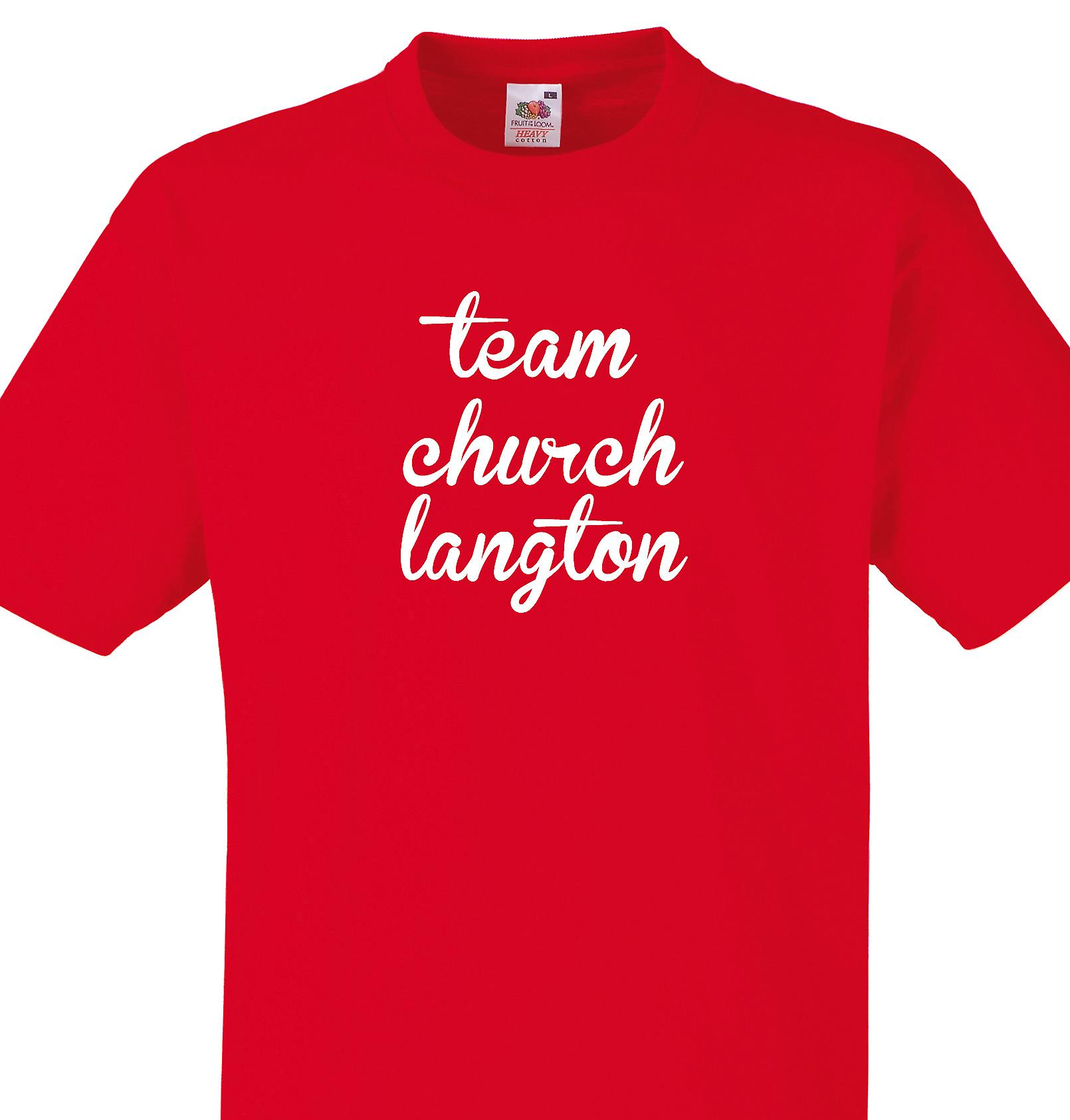 Team Church langton Red T shirt