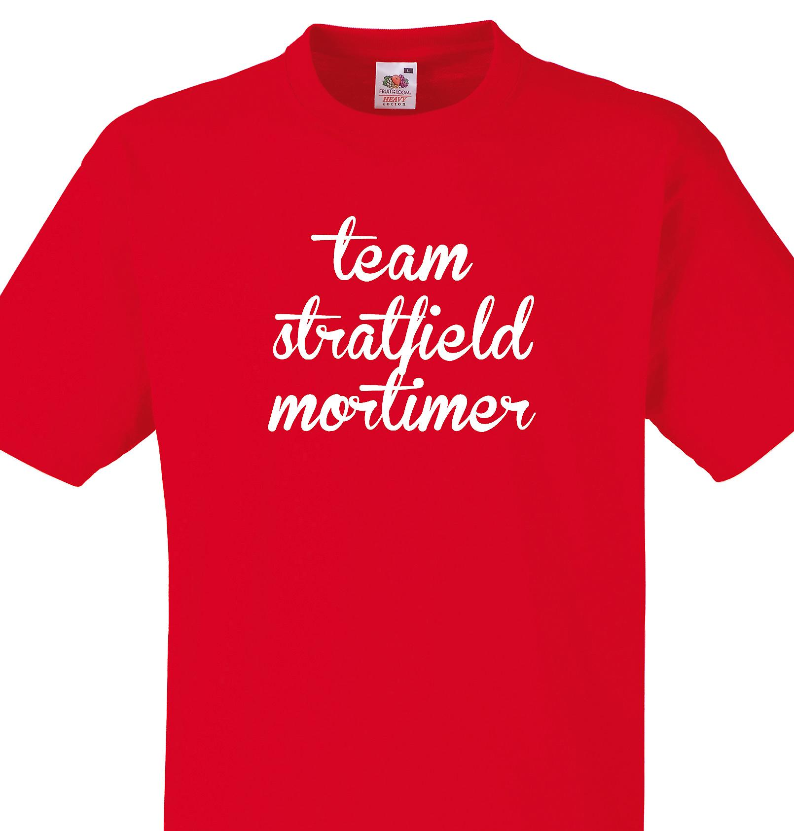 Team Stratfield mortimer Red T shirt