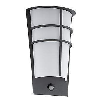 Lámpara de pared Eglo Breganzo 1 IP44 PIR exterior en color antracita