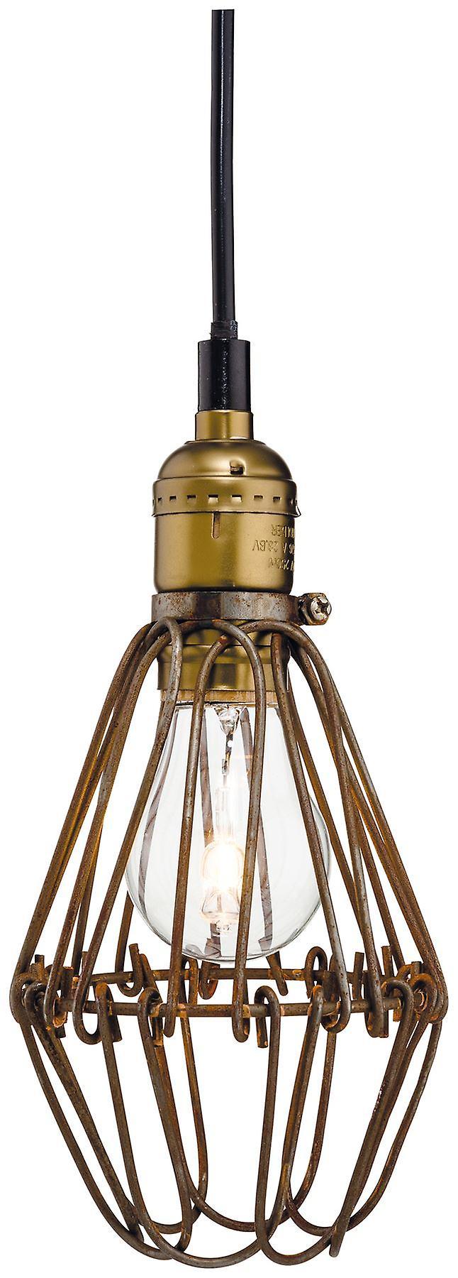 Firstlumière - 1 lumière Ceiling pendentif Rustic marron - 3446RB