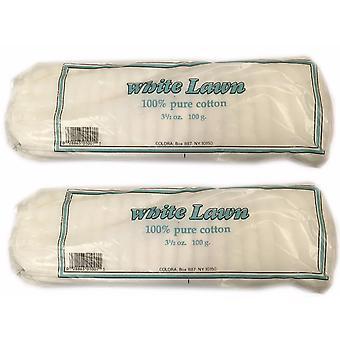 White Lawn Cotton Wool (2PK)