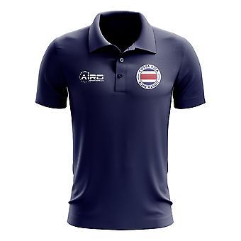 Costa Rica Football Polo Shirt (Navy)